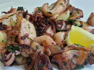 Calamari na česneku